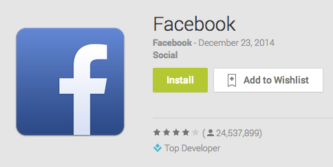 Facebook download Android